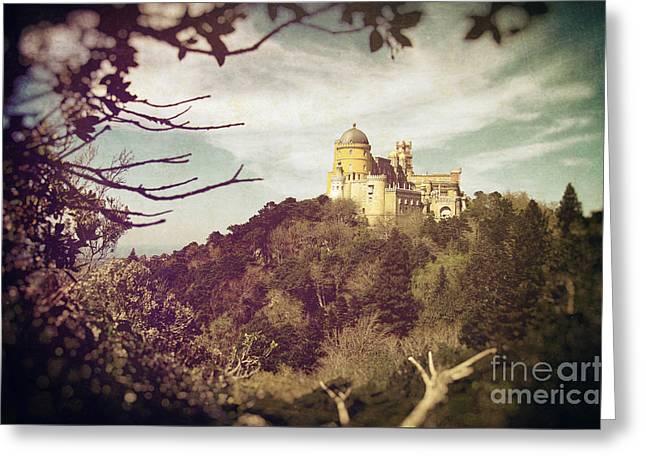 Pena Palace Greeting Card by Carlos Caetano