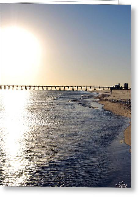 Pensacola Beach Greeting Card by Thea Wolff