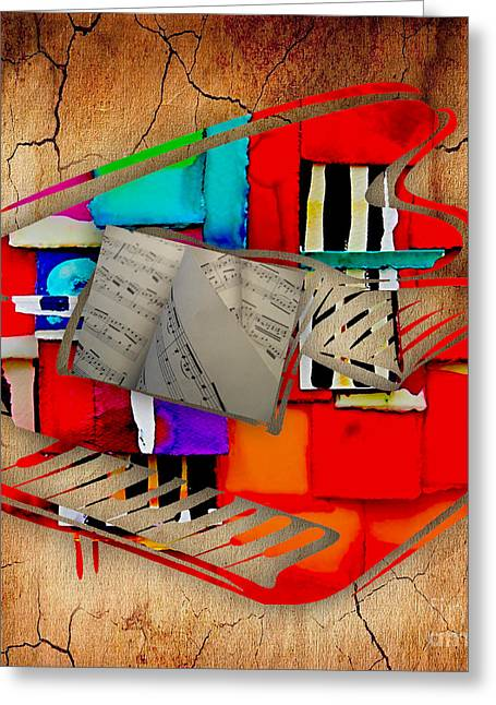 Piano Collection Greeting Card