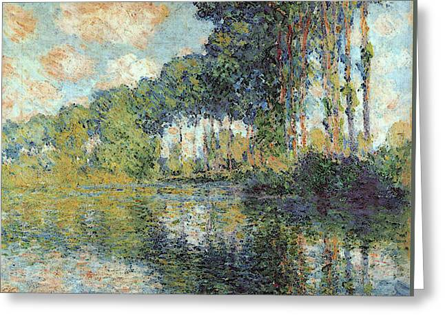 Poplars On The Epte Greeting Card by Claude Monet