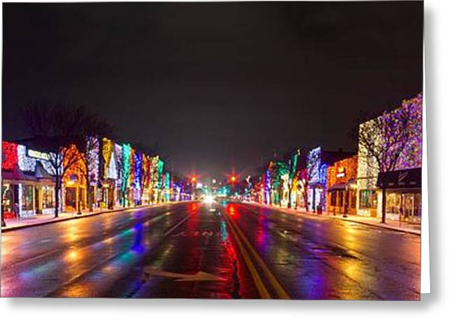 Rochester Christmas Light Display Greeting Card