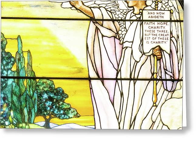 Saint Anne's Windows Greeting Card