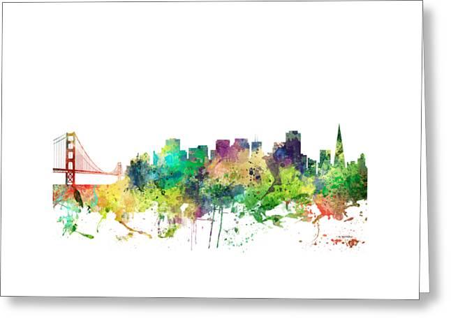 San Francisco California Skyline Greeting Card