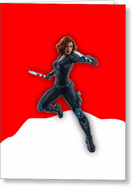 Scarlett Johansson Black Widow Greeting Card