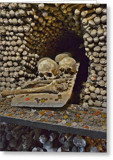 Sedlec Ossuary. Cemetery Church Of All Saints With The Ossuary. Czech Republic. Greeting Card
