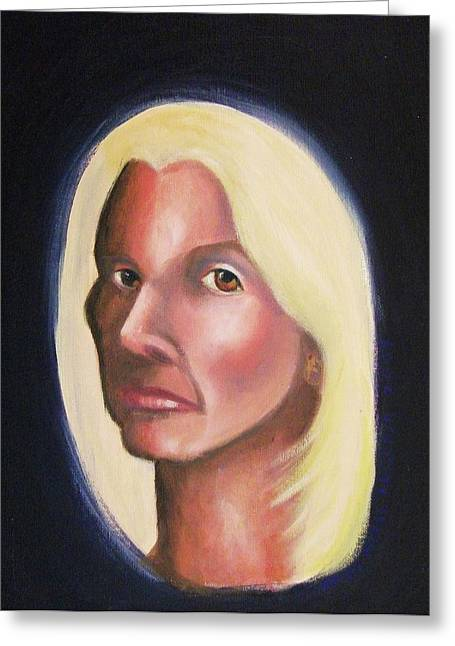 Self Portrait Greeting Card by Suzanne  Marie Leclair