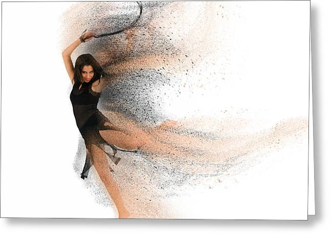 Sexy Woman Dancing - Enhanced  Greeting Card