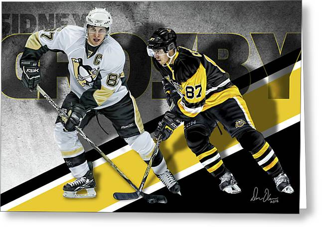 Sidney Crosby Greeting Card by Don Olea