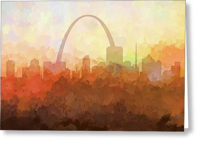 St Louis Missouri Skyline Greeting Card