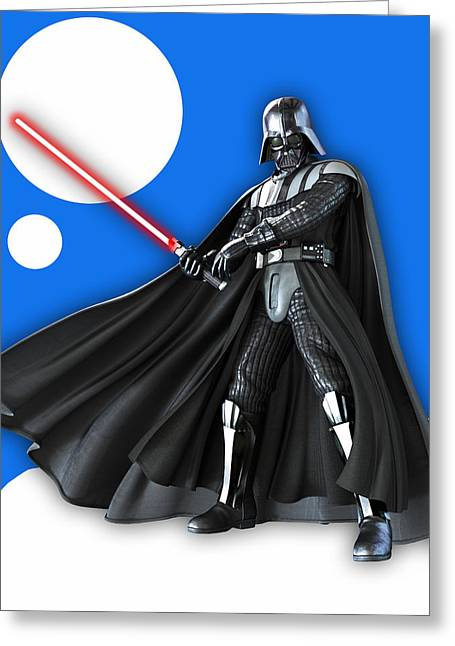 Star War Darth Vader Collection Greeting Card by Marvin Blaine