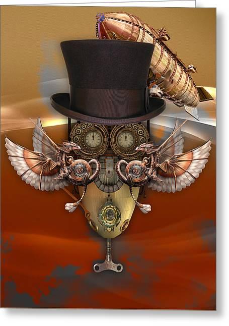 Steampunk Art Greeting Card