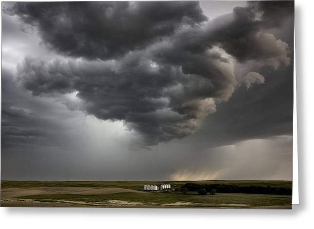 Storm Clouds Prairie Sky Greeting Card by Mark Duffy