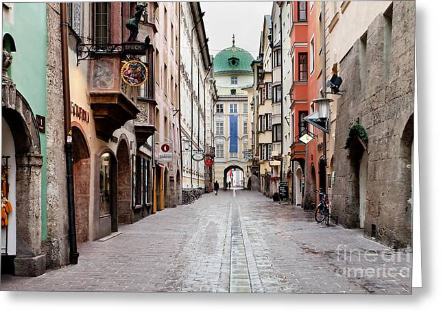 Streets Of Innsbruck Greeting Card