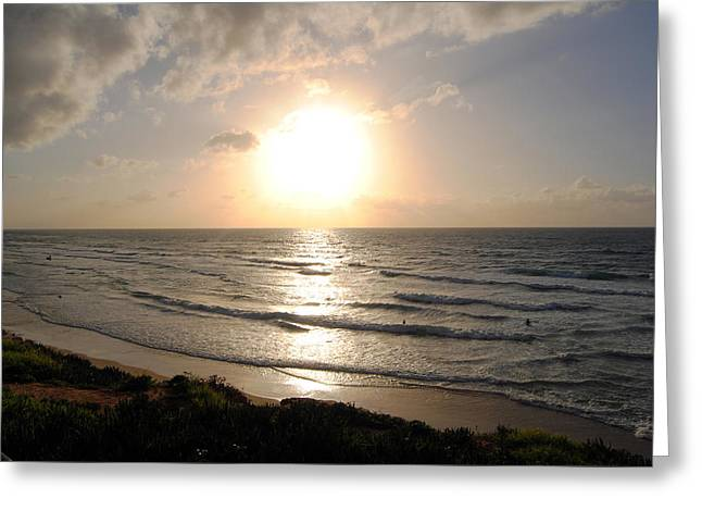 Sunset At Jaffa Beach 10 Greeting Card