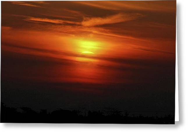 Greeting Card featuring the photograph 7- Sunset by Joseph Keane