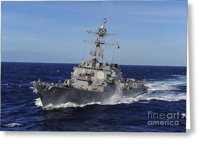 The Arleigh Burke-class Guided-missile Destroyer Greeting Card