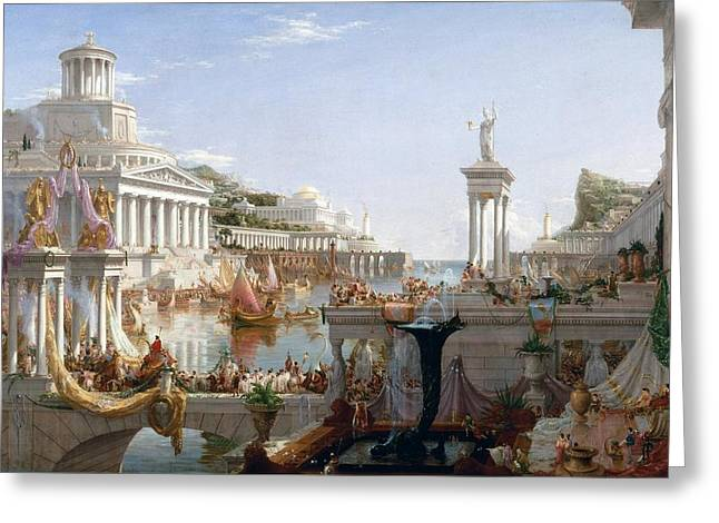 The Course Of Empire Greeting Card by Thomas Cole