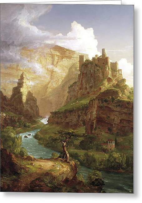 The Fountain Of Vaucluse Greeting Card by Thomas Cole
