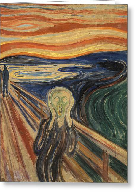 The Scream Greeting Card by Edvard Munch