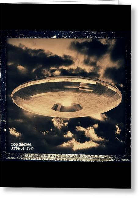 Top Secret Area 51 By Raphael Terra Greeting Card
