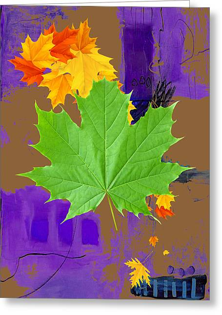 Tree Leaves Art Greeting Card