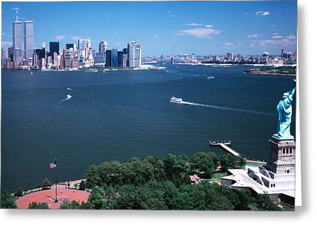 Usa, New York, Statue Of Liberty Greeting Card by Panoramic Images