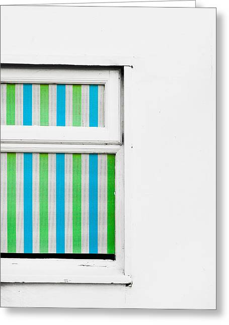 Window Greeting Card by Tom Gowanlock