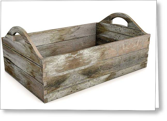 Wooden Carry Crate Greeting Card