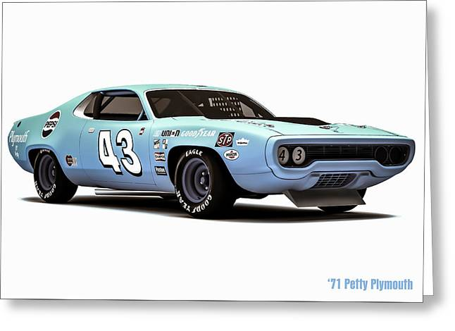 71 Plymouth Side Greeting Card