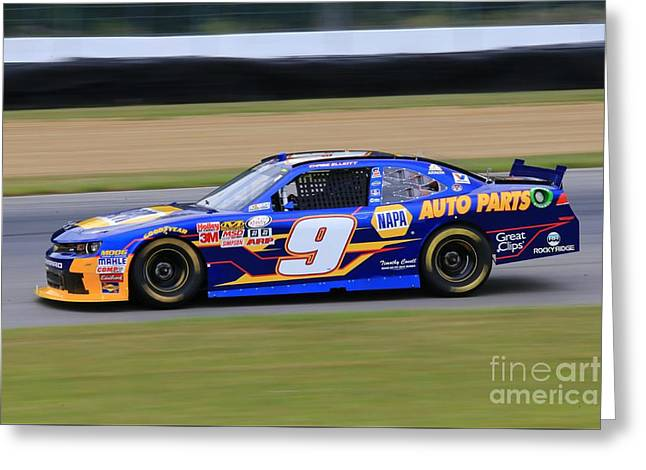 Chase Elliott Nascar Racing Greeting Card by Douglas Sacha