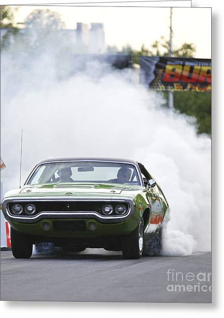 '72 Roadrunner Burn Out Greeting Card