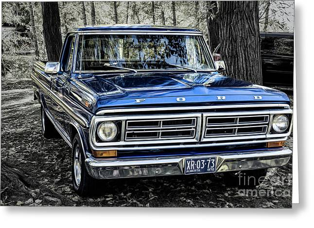 Greeting Card featuring the photograph 73 Ford Pickup by Brad Allen Fine Art