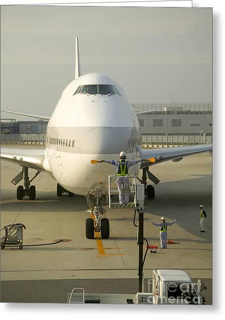 747 Jumbo Jet Greeting Card