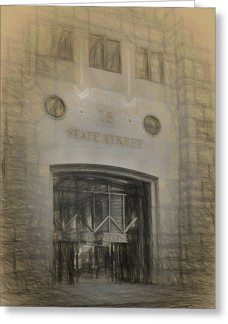75 State Street Greeting Card