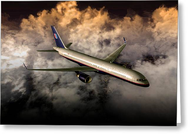 Greeting Card featuring the digital art 757 Ual 05 by Mike Ray