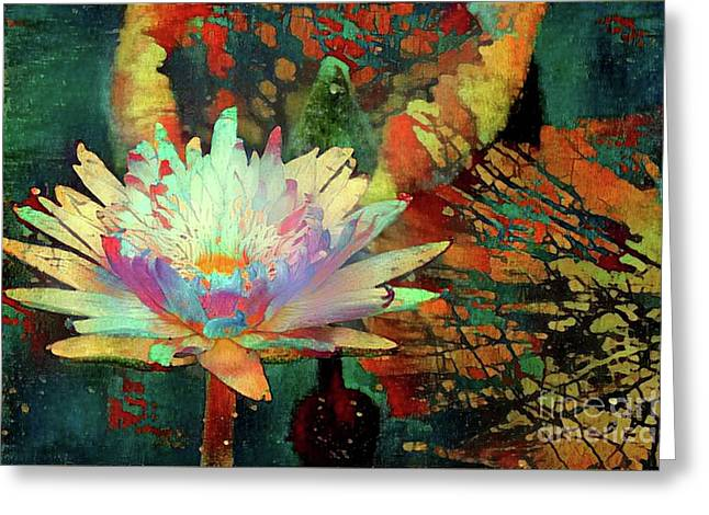 Jeweled Water Lilies Greeting Card