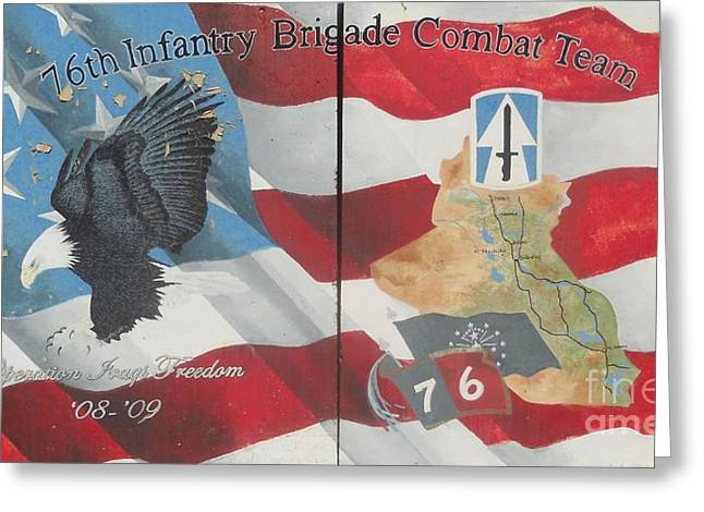 76th Infantry Greeting Card by Unknown