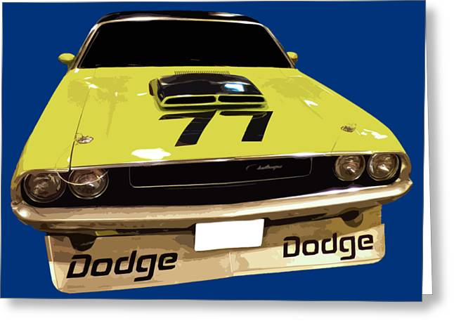 77 Yellow Dodge Greeting Card