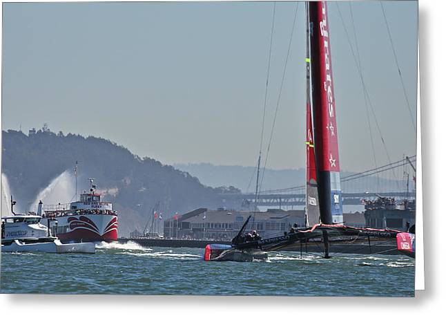 America's Cup 34 Greeting Card by Steven Lapkin