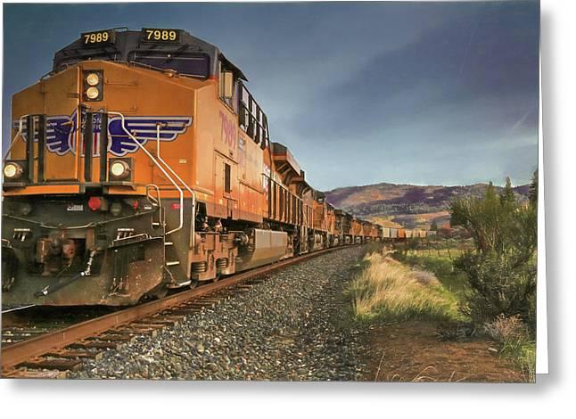 7989 - Nine Engines Westbound Greeting Card