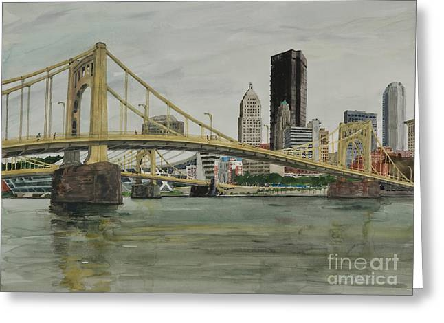 7th And 9th Street Bridges Greeting Card by Robert Bowden