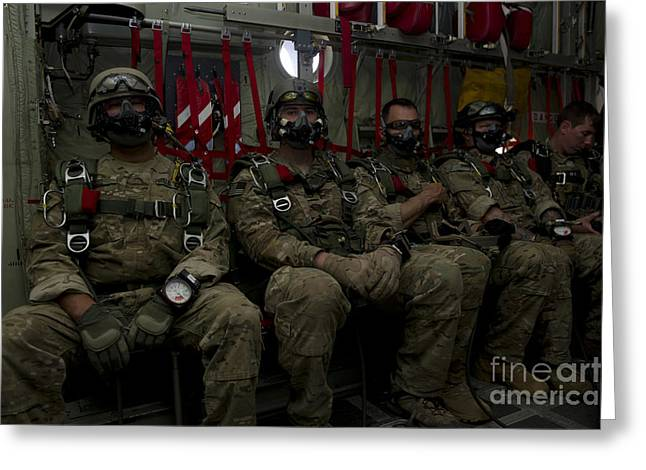 7th Special Forces Group Green Berets Greeting Card by Stocktrek Images