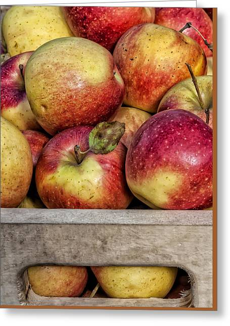 Apples Greeting Card by Robert Ullmann