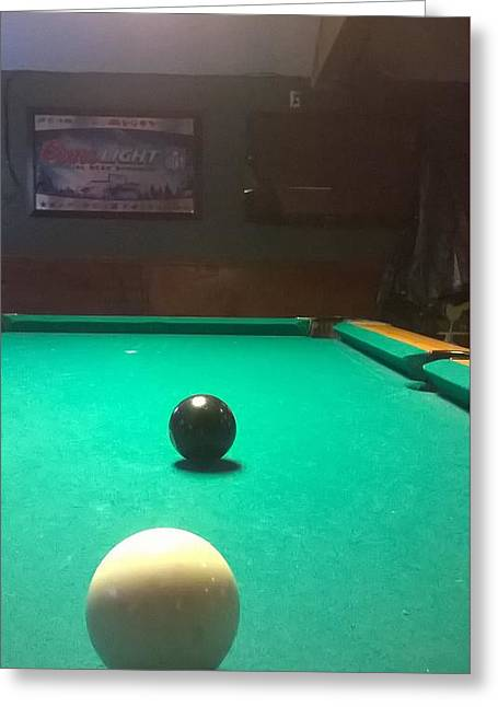 Pool cue greeting cards page 9 of 9 fine art america 8 ball corner pocket greeting card m4hsunfo