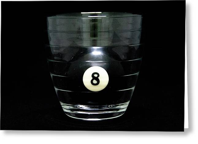 Billard greeting cards page 3 of 3 fine art america 8 ball in glass greeting card m4hsunfo