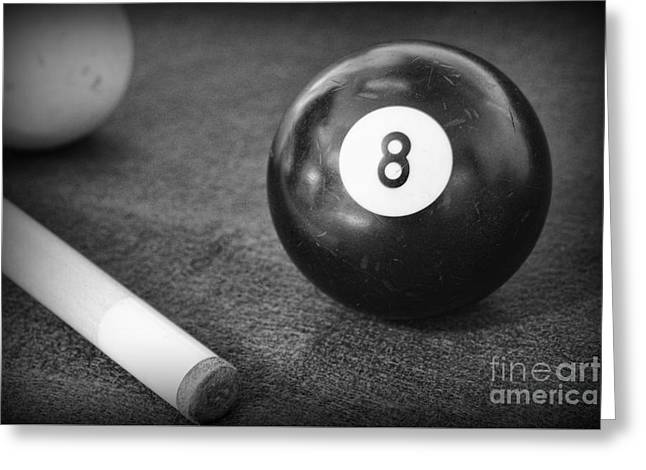 Pool cue greeting cards page 3 of 17 fine art america 8 ball side pocket greeting card m4hsunfo