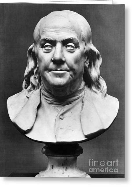 Benjamin Franklin (1706-1790) Greeting Card by Granger