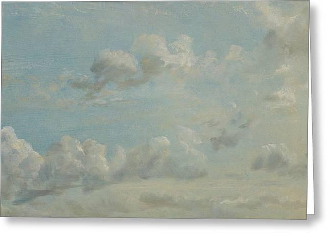 British Title Cloud Study Greeting Card