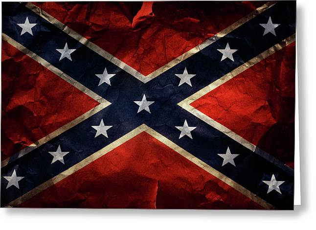 Confederate Flag 9 Greeting Card