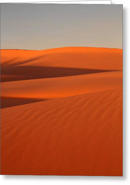 Coral Pink Sand Dunes At Sunset Greeting Card